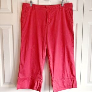 For the Republic Casual Coral Pink Capris Size 14